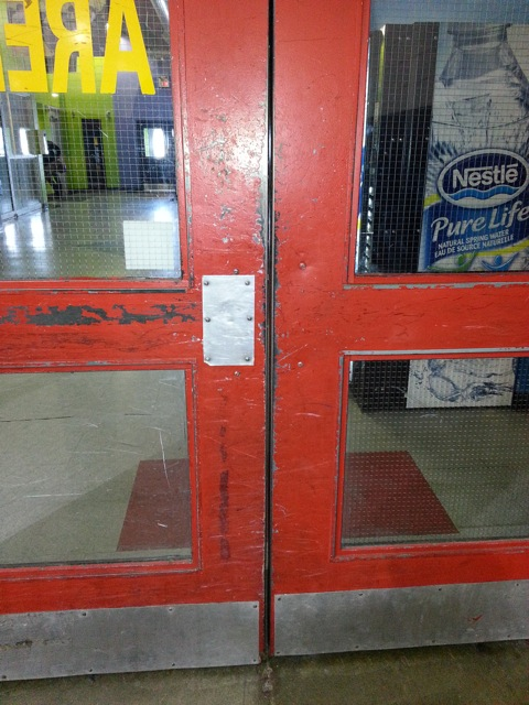 Arena Door with Wired Glass