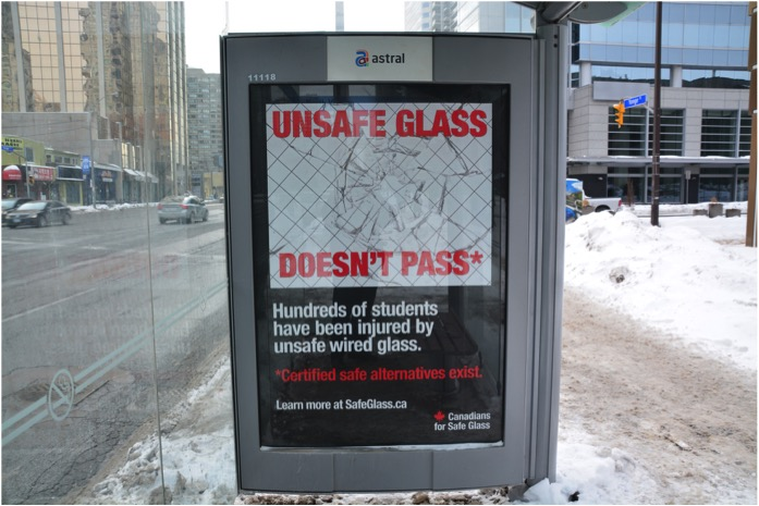 Canadians for Safe Glass advocacy campaign